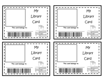 Printable Library Card Template from ecdn.teacherspayteachers.com