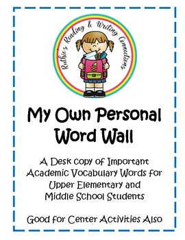 My Own Personal Word Wall Words A to Z