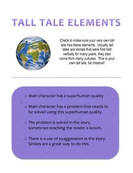My Own Tall Tale-Checklist