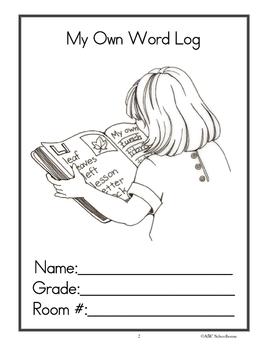 My Own Word Log