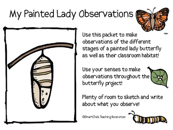 My Painted Lady Butterfly Observation Journal