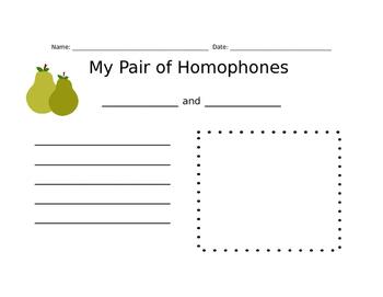 My Pair of Homophones