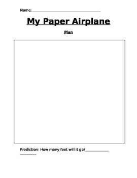 My Paper Airplane - Problem Solving Activity