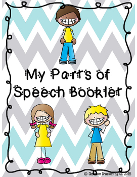 Parts of Speech Booklet-Nouns, Verbs, Adjectives, Pronouns, and Adverbs