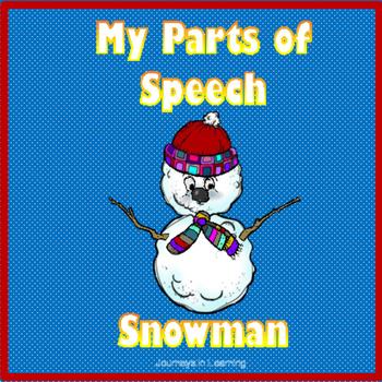 My Parts of Speech Snowman
