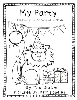 My Party {An Emergent Reader}