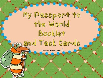My Passport to the World Booklet and Task Cards