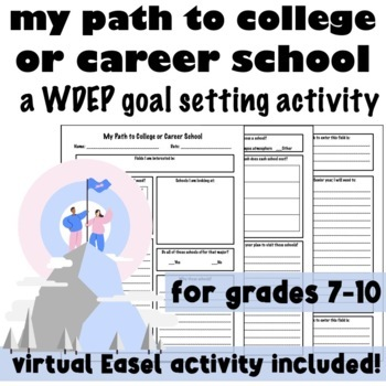 My Path to College or Career School Goal Setting Lesson