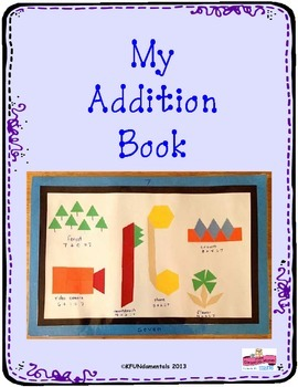 Pattern Block Addition Book: Hands-on, Sums to 2-10,  Common Core number bonds