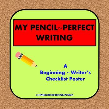 My Pencil Perfect Writing Poster