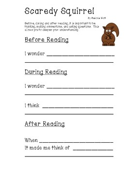 Scaredy Squirrel Literacy
