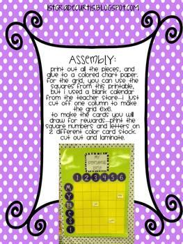 My Personal Best: A Behavior Reward Game!