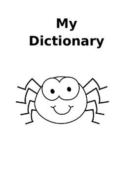My Personal Dictionary - Spider Themed