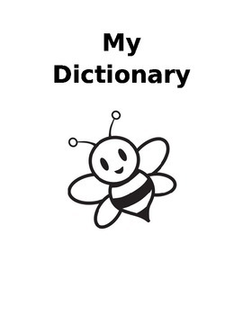 My Personal Dictionary - Bumble Bee Themed