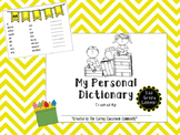 My Personal Dictionary 2nd Grade Spelling Edition