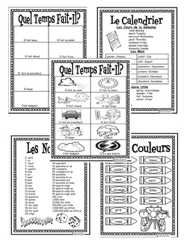 My Personal Dictionary-Portable Wordwall-In French! Three Level Bundle!