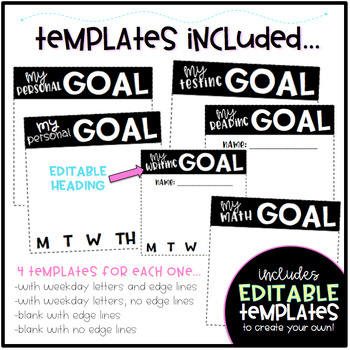 personal goal template