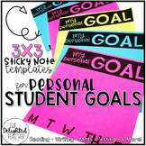 My Personal Goal {EDITABLE Sticky Note Templates}