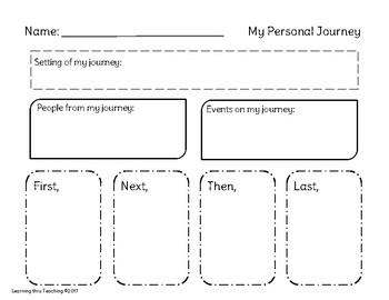 My Personal Journey Graphic Organizer