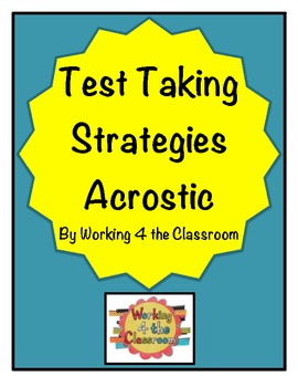 My Personal Test Taking Strategies (Name Acrostic)