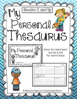 Thesaurus teaching resources teachers pay teachers my personal thesaurus my personal thesaurus ccuart Gallery
