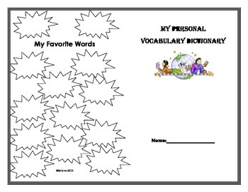 My Personal Vocabulary Dictionary