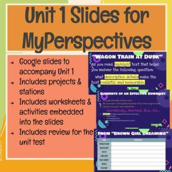 My Perspectives Unit 1 Slides