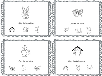 My Pet Book - sight words & finding the same