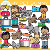 My Pet Bunny Clip Art