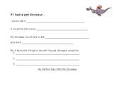 My Pet Dinosaur Writing