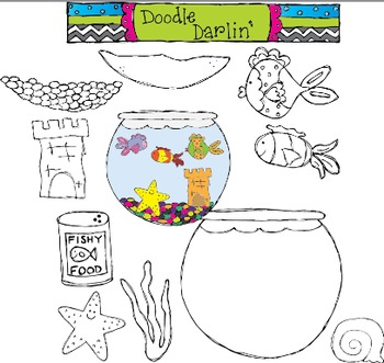My Pet Fish Stamp Clipart