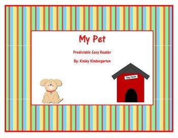 """""""My Pet"""" Predictable Easy Reader"""