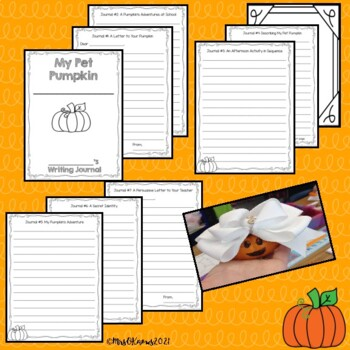 My Pet Pumpkin Writing Journal Project