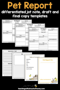 Pets: Tiered Report Writing Templates
