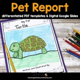 Pet Writing - Informative Report Writing Templates