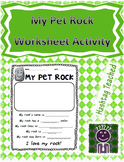 My Pet Rock Activity Template (Everybody needs a rock)