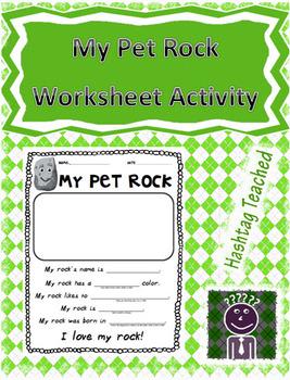My Pet Rock Activity Template (Everybody needs a rock)