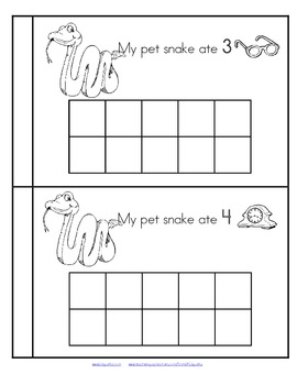 My Pet Snake - a silly emergent reader plus 10-frames FREE