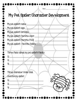 My Pet Spider:  A Third Grade Narrative Unit