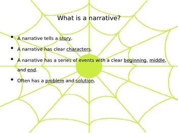 My Pet Spider Narrative PowerPoint