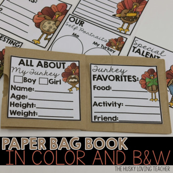 My Pet Turkey Paper Bag Book