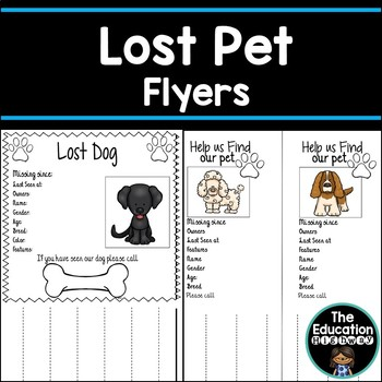 Pets Missing? Free Flyers