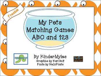 My Pets Freebie Matching Card Game