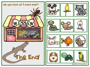 My Pets Interactive Vocabulary Book