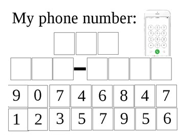 My Phone Number Template