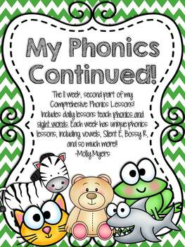 My Phonics Continued! - Part 2 of Comprehensive Phonics Curriculum