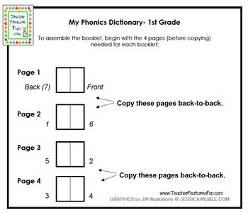 First Grade Phonics Interactive Reference Booklet