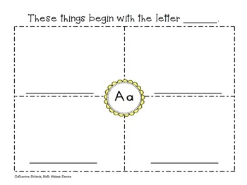 My Picture Dictionary {Free} Alphabet Writing & Spelling - K, 1 and 2
