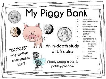 MATH: My Piggy Bank- A COMPLETE study of Money & US Coins