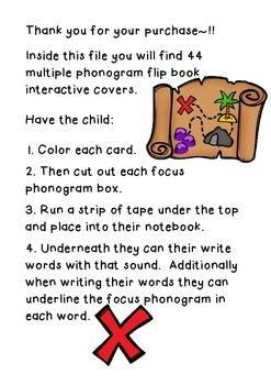 My Pirate Phonograms - Interactive Notebook